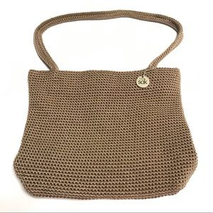 The Sak brown crochet purse